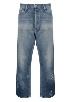 Chimala distressed cropped wide-leg jeans - Blue