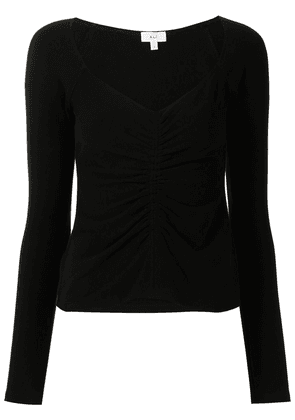 A.L.C. Halley ruched long-sleeve top - Black