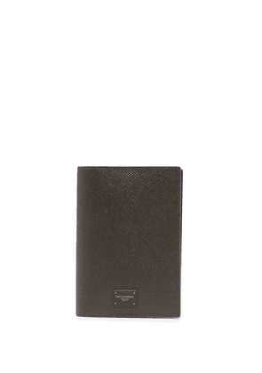 Dolce & Gabbana logo-patch passport holder - Brown