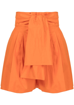 Boutique Moschino pleated high-waisted shorts - Orange