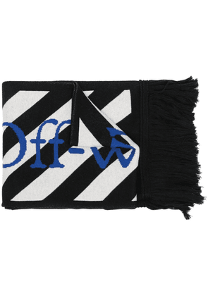 Off-White Diagonals double-face scarf - Black