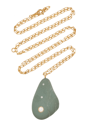 CVC Stones - Women's Bohemia 18K Gold; Diamond And Stone Necklace - Green - Moda Operandi