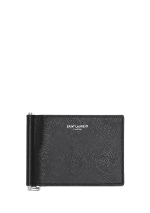 Logo Leather Bill Clip Wallet