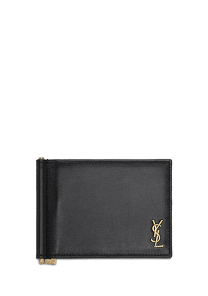 Tiny Monogram Leather Bill Clip Wallet