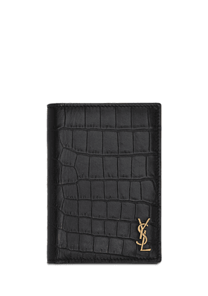 Monogram Embossed Credit Card Wallet