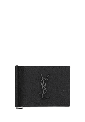 Monogram Leather Wallet W/ Bill Clip