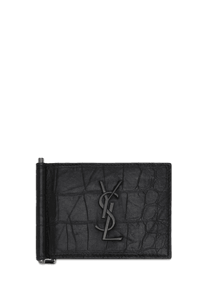 Monogram Embossed Bill Clip Wallet