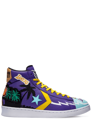 Chinatown Market Pro Leather Hi Sneakers