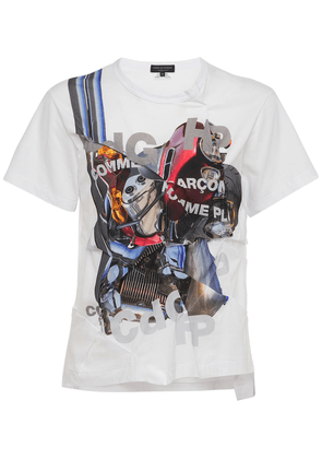 Distort Print Cotton Jersey T-shirt
