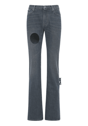 Hand Off Skinny Stack Cutout Denim Jeans