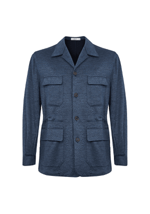 Petrol Blue Wool Teba Jacket