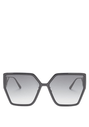 Dior - 30montaigne Butterfly Acetate Sunglasses - Womens - Black Grey