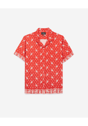 The Kooples - Shirt with printed, red and white bandanna motif - MEN