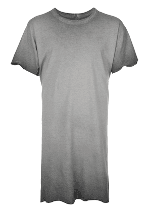 Boris Bidjan Saberi crew neck long length T-shirt - Grey