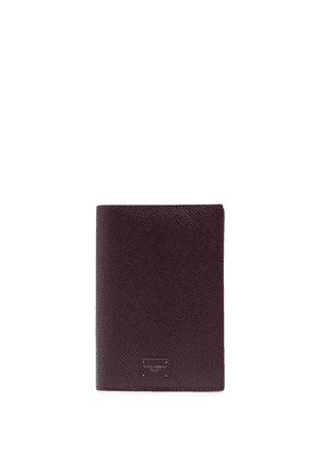 Dolce & Gabbana logo-patch passport holder - Black