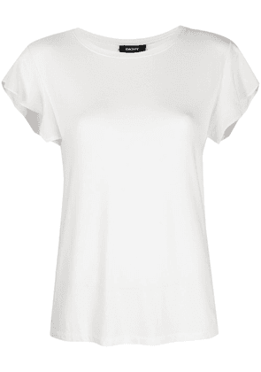 DKNY flutter sleeve stretch-fit T-shirt - White
