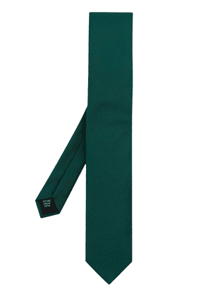 Dolce & Gabbana ribbed-effect tie - Green