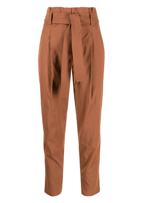 A.L.C. paperbag tied-waist trousers - Brown