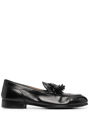 Alberto Fasciani tassel-detail leather loafers - Black