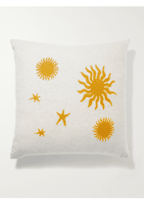 THE ELDER STATESMAN - Starry Night Intarsia Cashmere Cushion - Men - Neutrals - one size