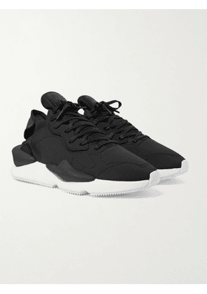 Y-3 - Kaiwa Leather-Trimmed Nylon-Ripstop and Neoprene Sneakers - Men - Black