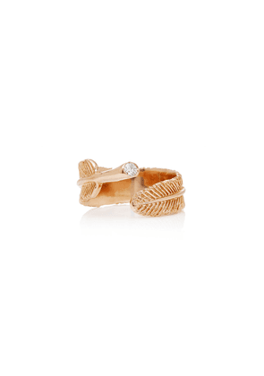 Daniela Villegas - Women's Wing 18K Rose Gold Diamond Ring - Gold - Moda Operandi