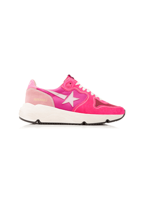 Golden Goose - Women's Running Sole Leather and Suede Sneakers - Pink - Moda Operandi