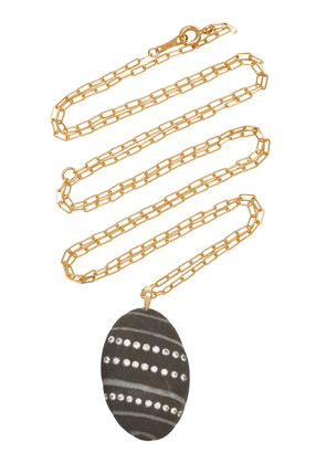 CVC Stones - Women's Aline 18K Gold; Diamond And Stone Necklace - Black/white - Moda Operandi