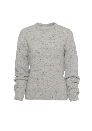 Brandon Maxwell - Women's Speckled Cashmere-Blend Crewneck Sweater - Pink/grey - Moda Operandi