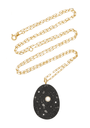 CVC Stones - Women's One-Of-A-Kind Aurora 18k Gold Beach Stone Necklace - Black - Moda Operandi