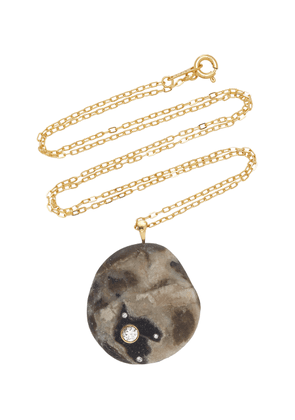 CVC Stones - Women's One-Of-A-Kind Temporale 18k Gold Beachstone Necklace  - Black - Moda Operandi