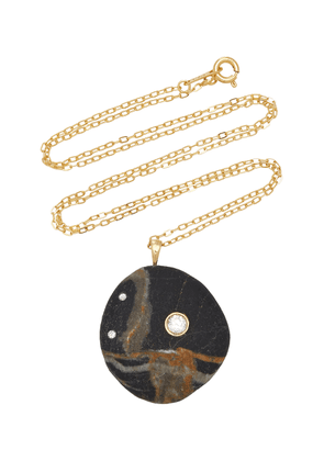CVC Stones - Women's One-Of-A-Kind Bay 18k Gold Beachstone Necklace  - Black - Moda Operandi