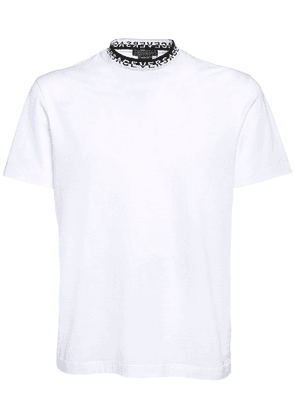 Cotton T-shirt W/ Logo Collar