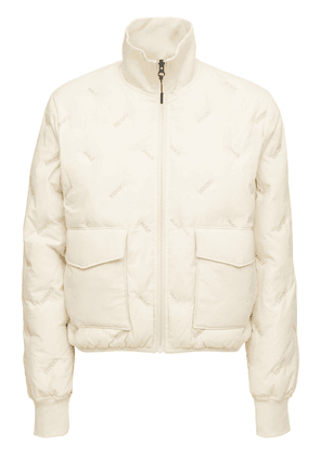 Packable Embroidered Puffer Jacket