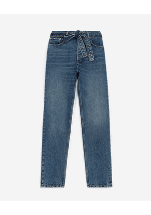 The Kooples - Faded blue jeans with removable belt - MEN