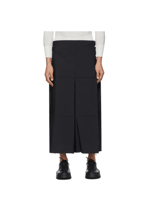 132 5. ISSEY MIYAKE Black Fold Square Trousers
