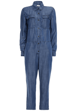 Clu Chambray Jumpsuit Woman Navy Size S