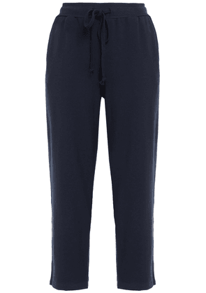 Clu Cropped French Terry Track Pants Woman Navy Size XS