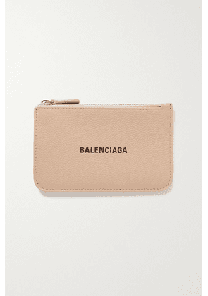 Balenciaga - Cash Printed Textured-leather Wallet - Beige