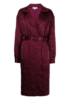 Fleur Du Mal quilted trench coat - Red
