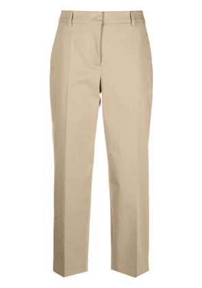 Boutique Moschino high-rise cropped trousers - Neutrals