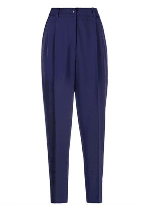 Boutique Moschino tailored tapered trousers - Blue