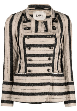 Bazar Deluxe striped double-breasted jacket - Neutrals