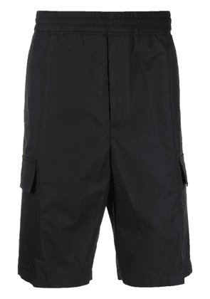 Neil Barrett elasticated waistband cargo shorts - Black