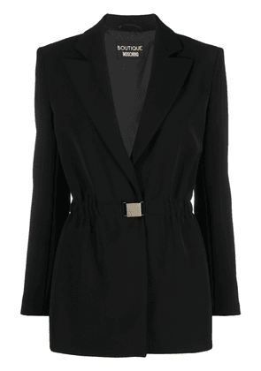 Boutique Moschino single-breasted buckled blazer - Black