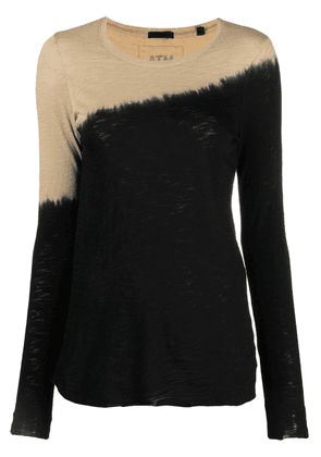 Atm Anthony Thomas Melillo two-tone long-sleeved T-Shirt - Black