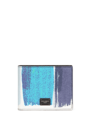 Dolce & Gabbana abstract-print leather wallet - Blue