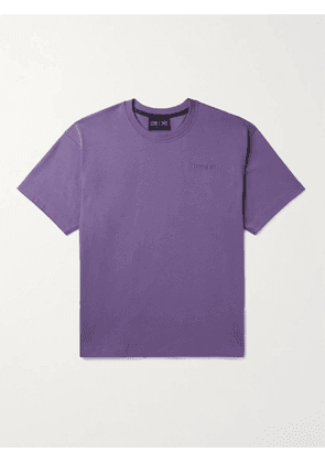ADIDAS CONSORTIUM - Pharrell Williams Basics Logo-Embroidered Cotton-Jersey T-Shirt - Men - Purple - XS