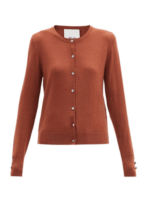 Allude - Buttoned-cuff Wool-blend Cardigan - Womens - Camel
