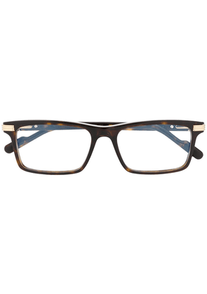 Cartier Eyewear rectangular frame glasses - Brown